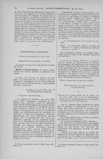 Tome 63 : Du 20 avril au 1er mai 1793 - page 72