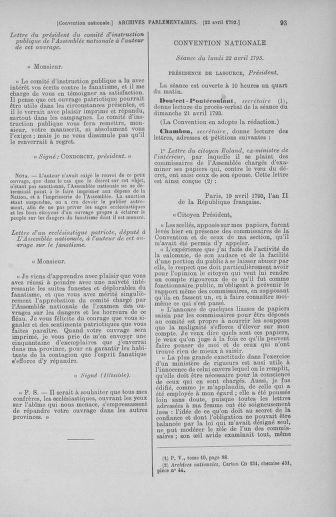 Tome 63 : Du 20 avril au 1er mai 1793 - page 93