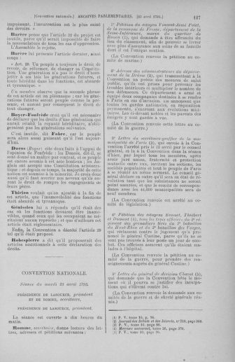 Tome 63 : Du 20 avril au 1er mai 1793 - page 127