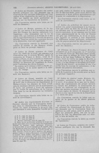 Tome 63 : Du 20 avril au 1er mai 1793 - page 128