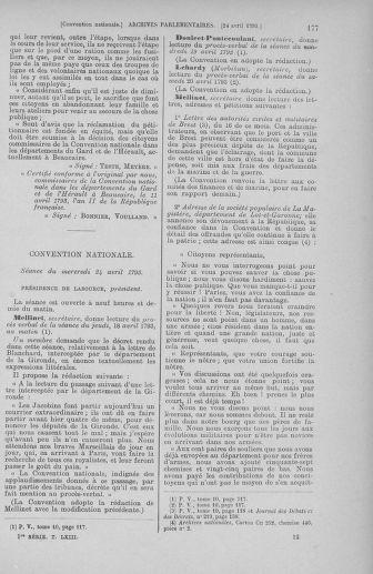 Tome 63 : Du 20 avril au 1er mai 1793 - page 177