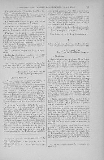 Tome 63 : Du 20 avril au 1er mai 1793 - page 303