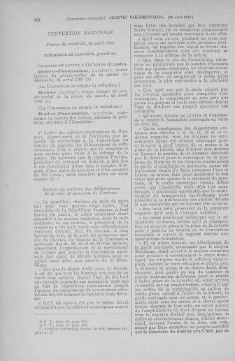 Tome 63 : Du 20 avril au 1er mai 1793 - page 354