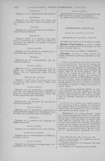 Tome 63 : Du 20 avril au 1er mai 1793 - page 412