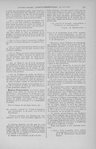 Tome 63 : Du 20 avril au 1er mai 1793 - page 421