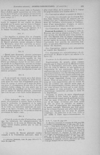 Tome 63 : Du 20 avril au 1er mai 1793 - page 423