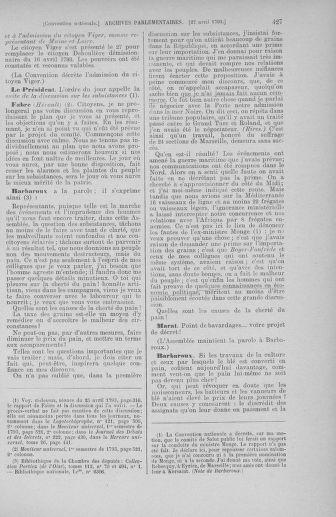 Tome 63 : Du 20 avril au 1er mai 1793 - page 427