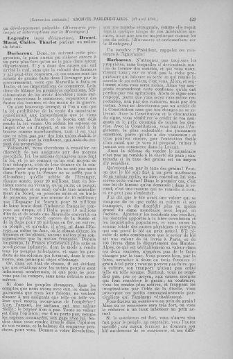 Tome 63 : Du 20 avril au 1er mai 1793 - page 429