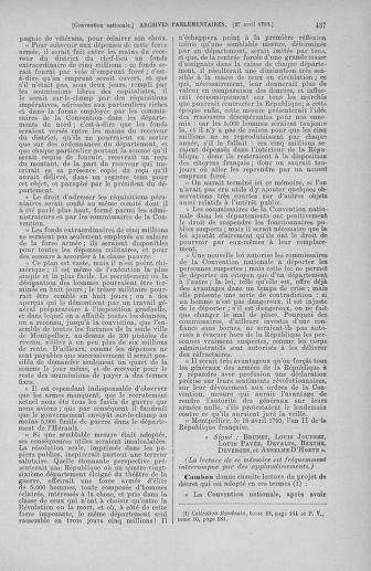 Tome 63 : Du 20 avril au 1er mai 1793 - page 437