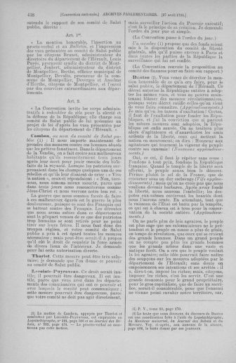 Tome 63 : Du 20 avril au 1er mai 1793 - page 438