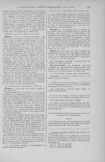 Tome 63 : Du 20 avril au 1er mai 1793 - page 439