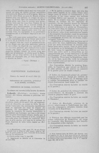 Tome 63 : Du 20 avril au 1er mai 1793 - page 617