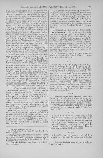 Tome 63 : Du 20 avril au 1er mai 1793 - page 665