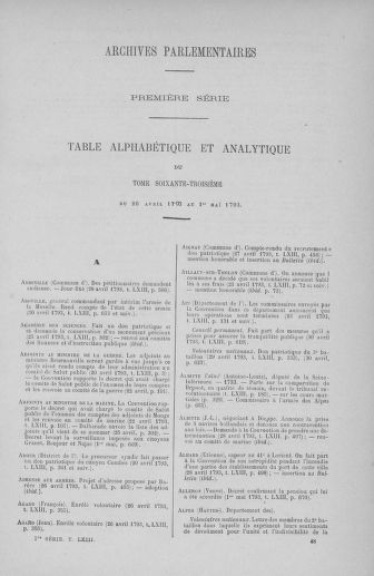 Tome 63 : Du 20 avril au 1er mai 1793 - page ..
