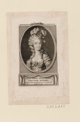 Jeanne Gomart de Vaubernier, comtesse Dubarry décapitée à Paris le 18 frimaire, an 2 (9 décembre 1793) à l'age de 42 ans : [estampe]