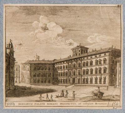 Palazzo Doria. Prospetto su Piazza del Collegio Romano