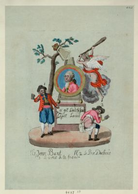 N.o 1 Jean Bart n.o 2 le pere Duchene n.o 3 le genie de la France ci gît Louis le faux Capet lainé : [estampe]