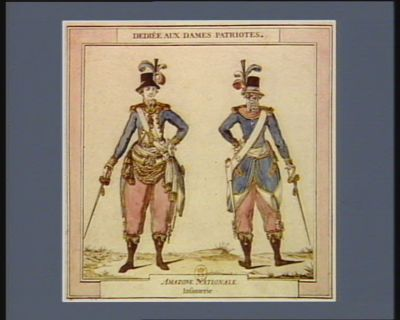 Amazone nationale. Infanterie dediée aux dames patriotes : [estampe]