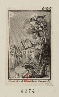 Promulgation de la Constitution française [estampe]