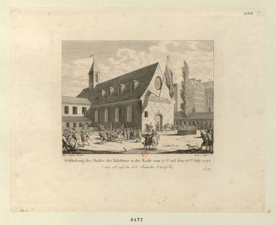 Schliessung des Saales der Iakobiner in der Nacht vom 27ten auf den 28ten July 1794 [estampe]