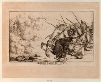 Arriere garde du pape ou la frayeur du reverend pere caporal [estampe]