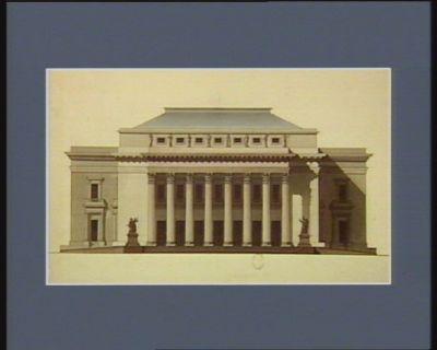 [Elévation d'un bâtiment avec colonnade à l'antique] [dessin]