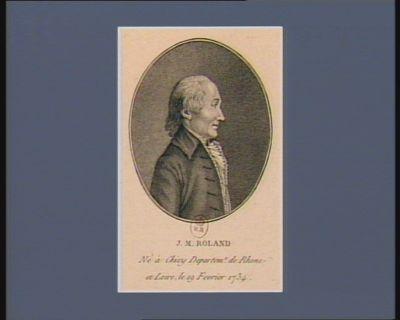 J.M. Roland né à Chizy [i.e. Thizy] departem.t de Rhone et Loire, le 19 fevrier 1734 : [estampe]