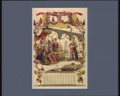 Almanach pour la présente année 1788 Tarare opéra en cinq actes avec un prologue paroles de Mr Aug. Caron de Beaumarchais musique de Mr Salieri... : [estampe]