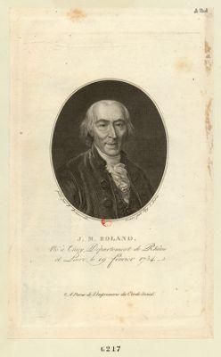 J.M. Roland né à Thizy, département de Rhône et Loire, le 19 février 1734 : [estampe]