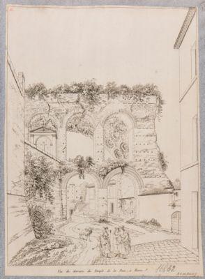 Basilica di Costantino, particolare di veduta dal lato posteriore
