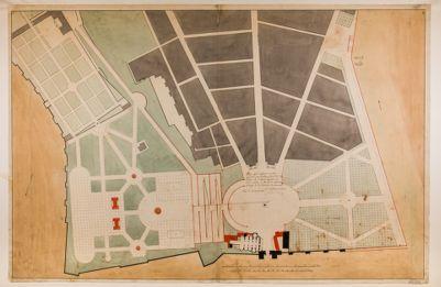 Piazza del Popolo. Progetto di sistemazione, planimetria