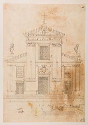 Chiesa di S. Rocco, prospetto della facciata