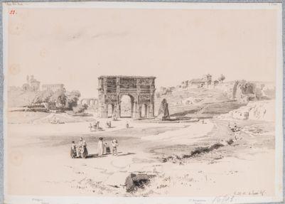 Arco di Costantino, con la veduta di San Gregorio