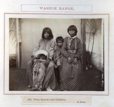 Piute Squaws And Children At Reno. # 282, Photograph
