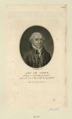 Ant. Cr. Gerle deputé à l'Assemblée constituante, né le 24 8bre 1736 à Riom dép.t du Puy de Dôme : [estampe]