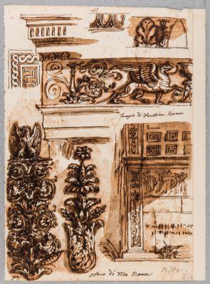 Tempio di Antonino e Faustina, particolare del fregio