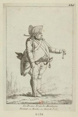 Le  Brave Tranche Montagne portant sa montre au Mont de piété [estampe]