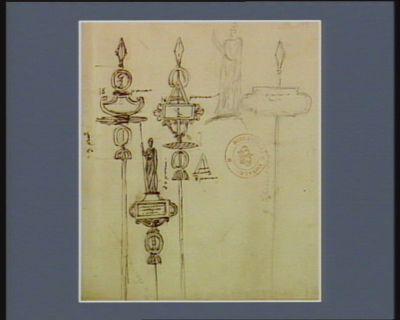[Projets d'enseignes pour la fête du 10 août 1799] [dessin]