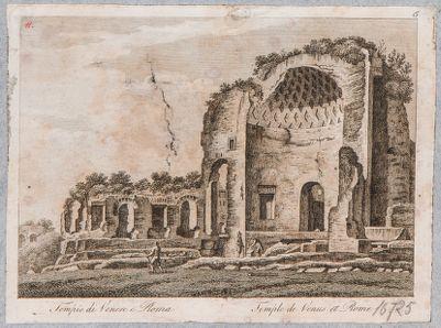 Tempio di Venere e Roma, visto di scorcio da sud