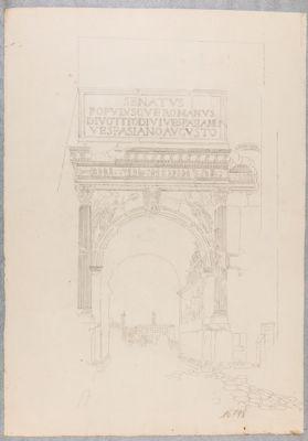 Arco di Tito, il solo arco visto dalla via Sacra