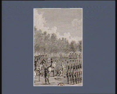 [M. de La Fayette fait désarmer les soldats assemblés aux Champs-Elysée] [12 janvier 1790] : [estampe]