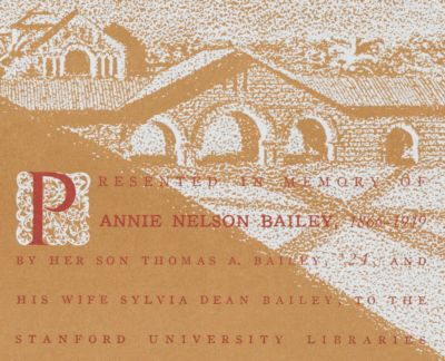 Annie Nelson Bailey Memorial Book Fund