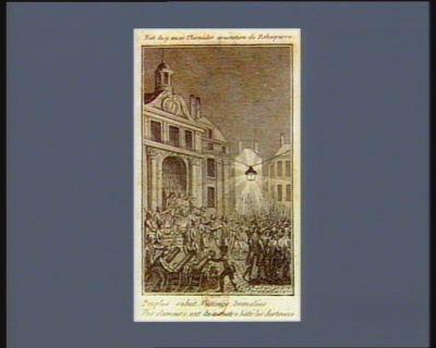 Nuit du 9 au 10 thermidor arestation de Robespierre.. [estampe]