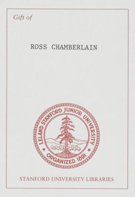 Gift of Ross Chamberlain