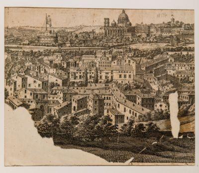 Panorama di Roma, veduta parziale dei Borghi e di Castel S. Angelo