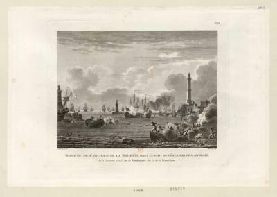 Massacre de l'équipage de la Modeste, dans le port de Gênes par les Anglais le 5 octobre 1793, <em>ou</em> 13 vendemiaire an 2 de la République : [estampe]