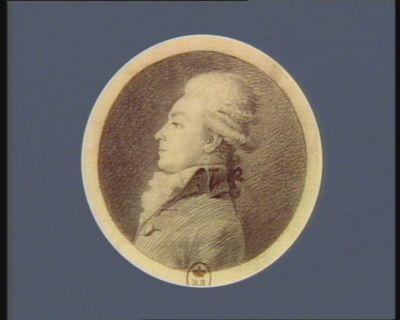 M.re Edouard Lemontey né à Lyon le 14 j.r 1762 dép. du dép. de Rhône et Loire à la 1.re Ass.ée n.ale legislat. , élu president en X.bre 1791 : [dessin]