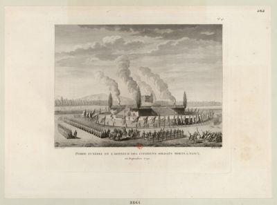 Pompe funèbre en l'honneur des citoyens soldats morts à Nancy en septembre 1790 : [estampe]