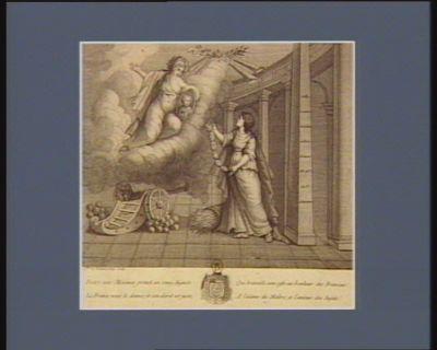 Entre nos mécénes prenez un rang auguste la France vous le donne, et son décret est juste ; Qui travaille sans cesse au bonheur des Français ! A l'estime du maître, et l'amour des sujets ! : [estampe]