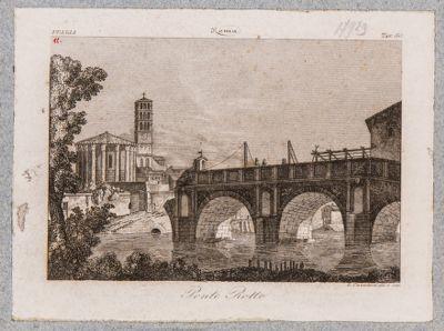Ponte Rotto o Emilio, veduta del ponte ridotto a tre arcate